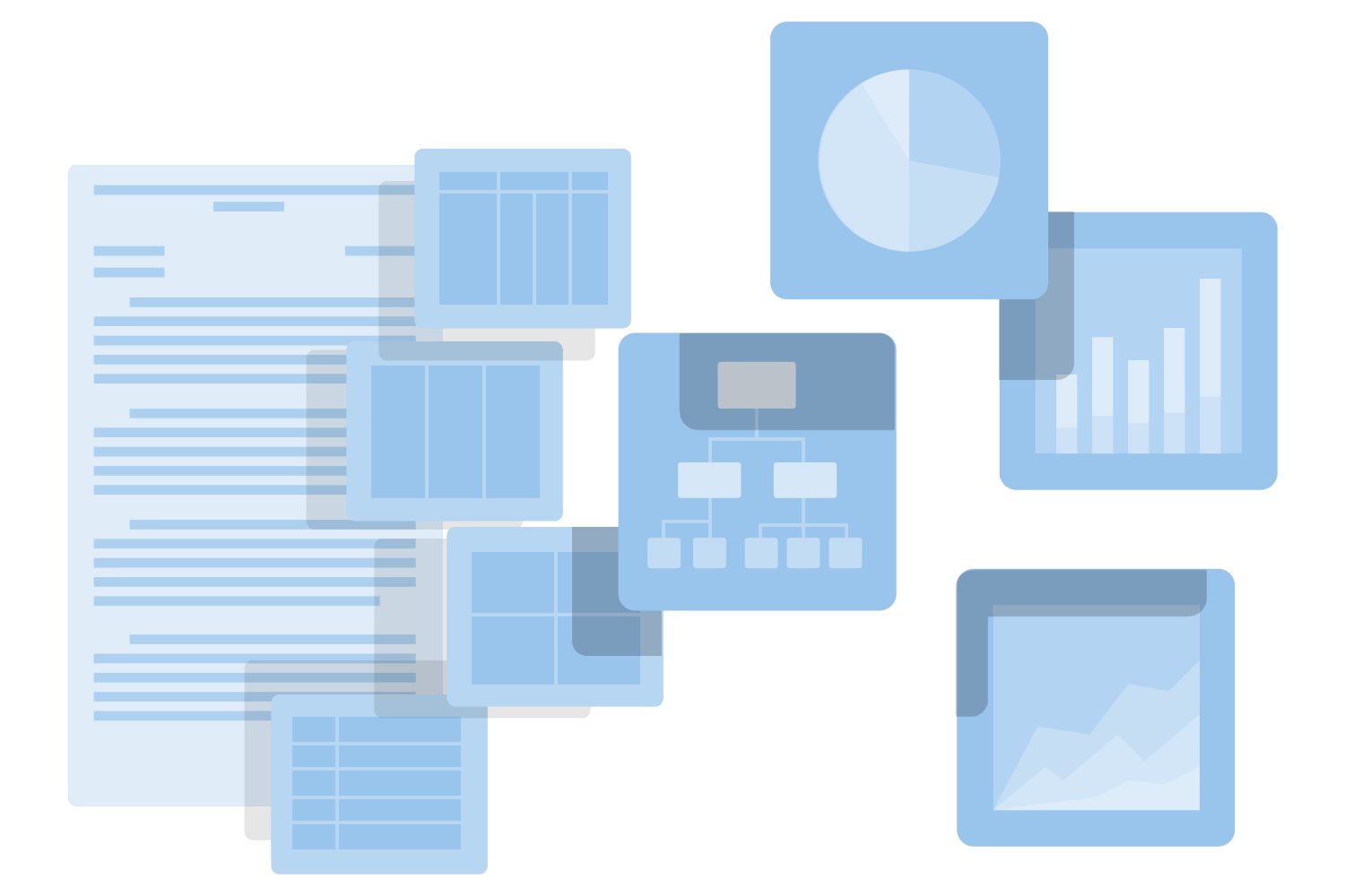 your data in easy to read graphs and forms